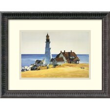 'Light House and Buildings, Portland Head,1927' by Edward Hopper Framed Painting Print