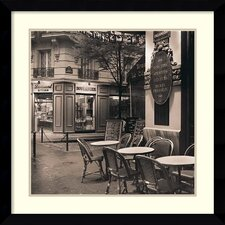 'Cafe, Montmartre' by Alan Blaustein Framed Art Print