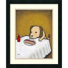 'Revenge is a Dish (Dog)' by Luke Chueh Framed Art Print