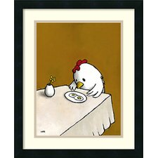 'I asked for Scrambled (Chicken)' by Luke Chueh Framed Art Print