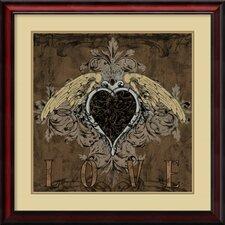 'Love' by Brandon Glover Framed Art Print