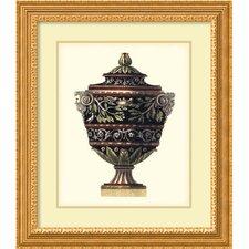 'Antonini Clementino Urn I' by Da Carlo Antonini Framed Art Print