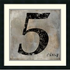 'Cinq' by Oliver Jeffries Framed Art Print