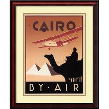 'Cairo by Air' by Brian James Framed Art Print