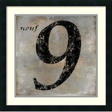'Neuf' by Oliver Jeffries Framed Art Print