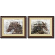 'Upbeat' by Kay Daichi 2 Piece Framed Art Print Set