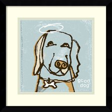 'Good Dog' by Peter Horjus Framed Art Print