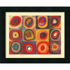 'Farbstudie Quadrate' by Wassily Kandinsky Framed Painting Print