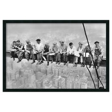 New York Lunch Atop a Skyscraper Framed Photographic Print