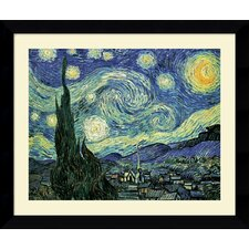 "<strong>Amanti Art</strong> The Starry Night by Vincent Van Gogh, Framed Print Art - 24.62"" x 30.62"""