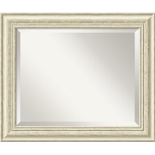 <strong>Amanti Art</strong> Country Medium Mirror in Rustic Whitewash