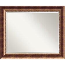 <strong>Amanti Art</strong> Manhattan Large Mirror in Antique Burnished Bronze