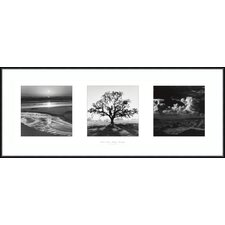 "Fiat Lux- Trilogy by Ansel Adams, Framed Print Art - 14.01"" x 36.13"""
