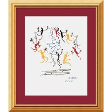"Dance of Youth by Pablo Picasso, Framed Print Art - 19.12"" x 16.12"""