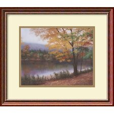 "<strong>Amanti Art</strong> Golden Autumn by Diane Romanello, Framed Print Art - 13.53"" x 15.47"""