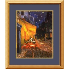 "<strong>Amanti Art</strong> Cafe Terrace At Night by Vincent Van Gogh, Framed Print Art - 18"" x 22"""