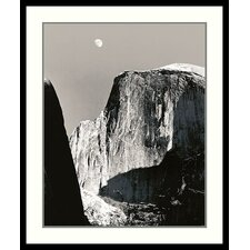 'Moon Over Half Dome' by Ansel Adams Framed Photographic Print