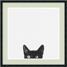 "<strong>Amanti Art</strong> Curiosity by Jon Bertelli, Framed Print Art - 19.77"" x 19.77"""