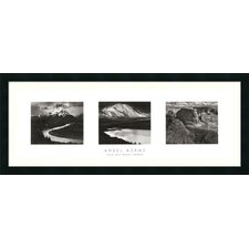 "<strong>Amanti Art</strong> Our National Parks (Triptych) by Ansel Adams, Framed Print Art - 16.69"" x 40.69"""