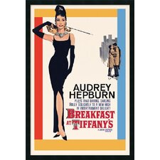"<strong>Amanti Art</strong> Audrey Hepburn- Breakfast at Tiffany's Framed Print Art - 37.66"" x 25.66"""
