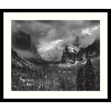 "Clearing Winter Storm by Ansel Adams, Framed Print Art - 21.04"" x 25.04"""