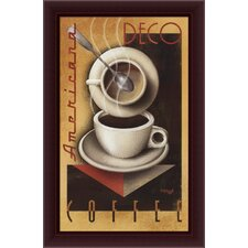 "Americana Deco Coffee by Michael Kungl, Framed Canvas Art - 40.45"" x 26.45"""