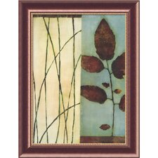 "<strong>Amanti Art</strong> Quiet Leaves by Dominique Gaudin, Framed Canvas Art - 32.55"" x 25.05"""