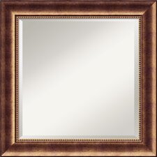 <strong>Amanti Art</strong> Manhattan Square Mirror in Antique Burnished Bronze