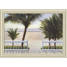 'Palm Bay' by Diane Romanello Framed Painting Print