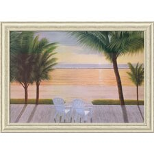 'Palm Bay Dreaming' by Diane Romanello Framed Painting Print