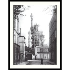 "Statue of Liberty in Paris Framed Print Art - 36.91"" x 28.04"""