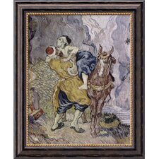 "The Good Samaritan (After Delacroix) by Vincent Van Gogh, Framed Canvas Art - 23.97"" x 19.97"""