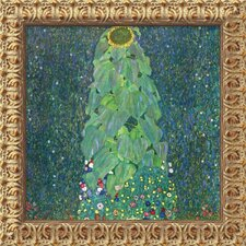 'The Sunflower (c. 1906-1907)' by Gustav Klimt Framed Painting Print