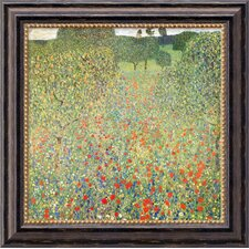 'Field of Poppies' by Gustav Klimt Framed Painting Print