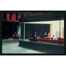 "Nighthawks by Edward Hopper, Framed Print Art - 25.66"" x 37.66"""