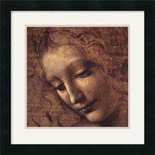 'Testa Di Faniciulla Detta (Detail)' by Leonardo Da Vinci Framed Painting Print