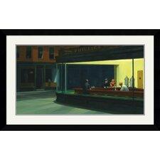 'Nighthawks, 1942' by Edward Hopper Framed Painting Print