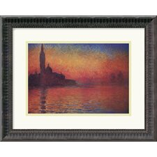 <strong>Amanti Art</strong> Dusk, Sunset in Venice, 1908 Framed Art Print by Claude Monet
