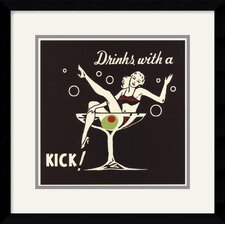 <strong>Amanti Art</strong> Drinks With A Kick Framed Art Print by Retro Series