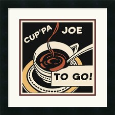 <strong>Amanti Art</strong> Cup'Pa Joe To Go Framed Art Print by Retro Series