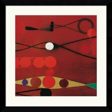 "<strong>Amanti Art</strong> Red Seed #34  by Bill Mead Framed Fine Art Print - 32.62"" x 32.62"""