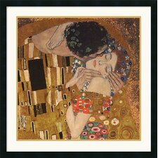 "<strong>Amanti Art</strong> The Kiss (detail), 1907 by Gustav Klimt Framed Fine Art Print - 30"" x 30"""