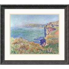 "<strong>Amanti Art</strong> The Cliff at Varengeville, 1882 by Claude Monet Framed Fine Art Print - 18.68"" x 21.18"""