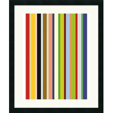 "<strong>Amanti Art</strong> Candy Stripe  by Ron Bleier Framed Fine Art Print - 27"" x 22.50"""