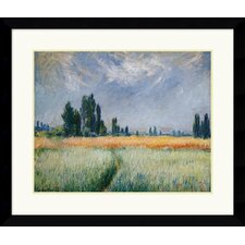 "<strong>Amanti Art</strong> Wheatfield, 1881  by Claude Monet Framed Fine Art Print - 29.49"" x 34.62"""