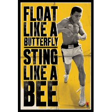 "<strong>Amanti Art</strong> Ali - Float Like a Butterfly Framed Art Print Framed Decorative Art Print - 36.66"" x 24.79"""
