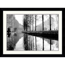 "<strong>Amanti Art</strong> Canal, Normandy by Bill Philip Framed Fine Art Print - 26.74"" x 35.12"""