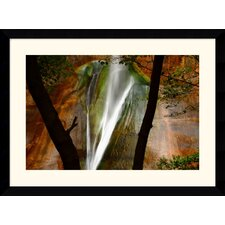"Calf Creek Falls by Andy Magee Framed Fine Art Print - 28.62"" x 38.62"""