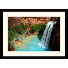 "Desert Oasis by Andy Magee Framed Fine Art Print - 28.62"" x 38.62"""