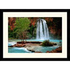 "<strong>Amanti Art</strong> Havasu Falls by Andy Magee Framed Fine Art Print - 28.62"" x 38.62"""